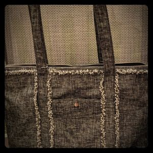 New Tommy Bahama Army Green Fabric Tote Bag